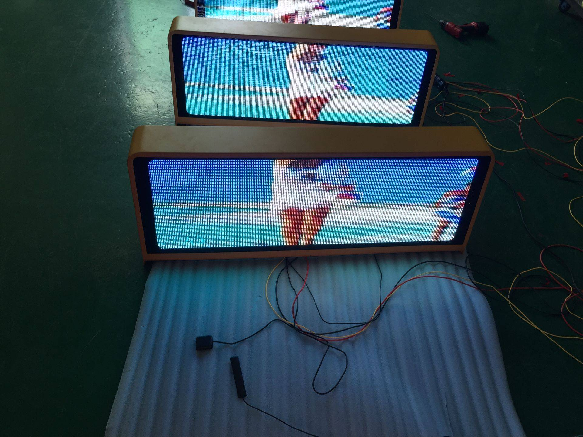 P5mm Wireless 3G And Gps Double Side Taxi Led Screen Display