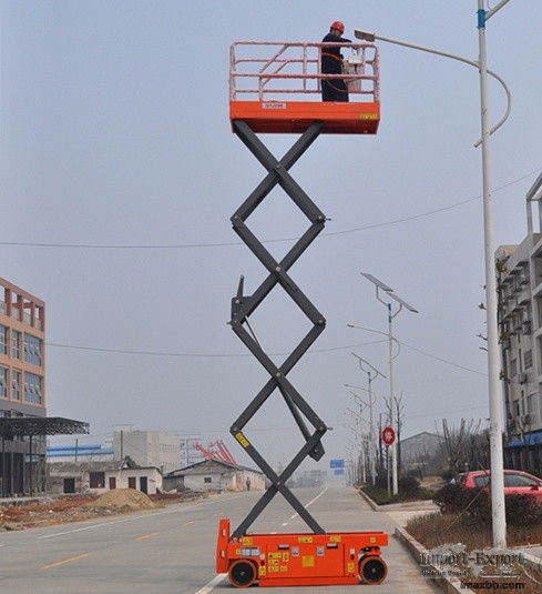 540kg Load Capacity Scissor Lift Man Lift with 8m Platform Height