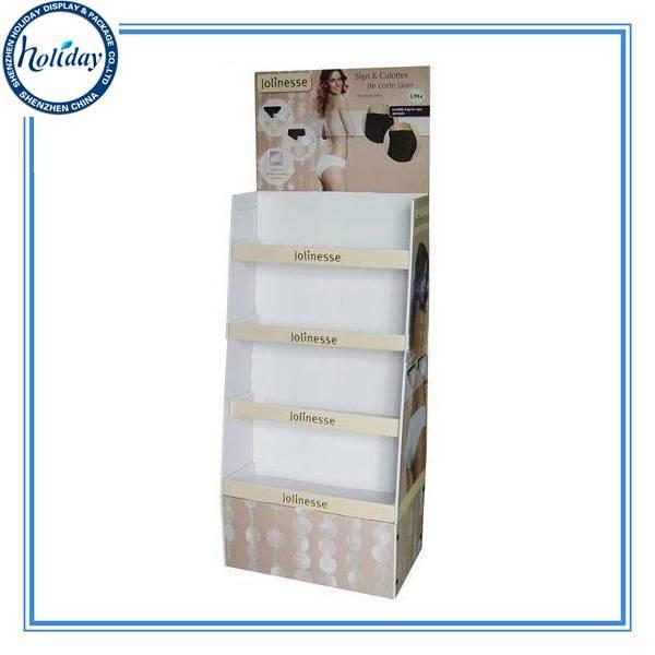 Eco-friendly Cardboard Shelf Step Display,Customized Wholesale Tall Floor Cardboard Step Display