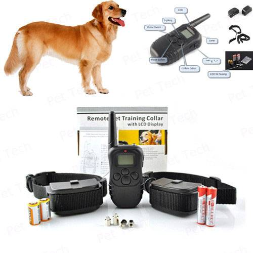 Remote Dog Training Collar With 100 Levels of Vibration/Static plus LCD Display (P-998D)