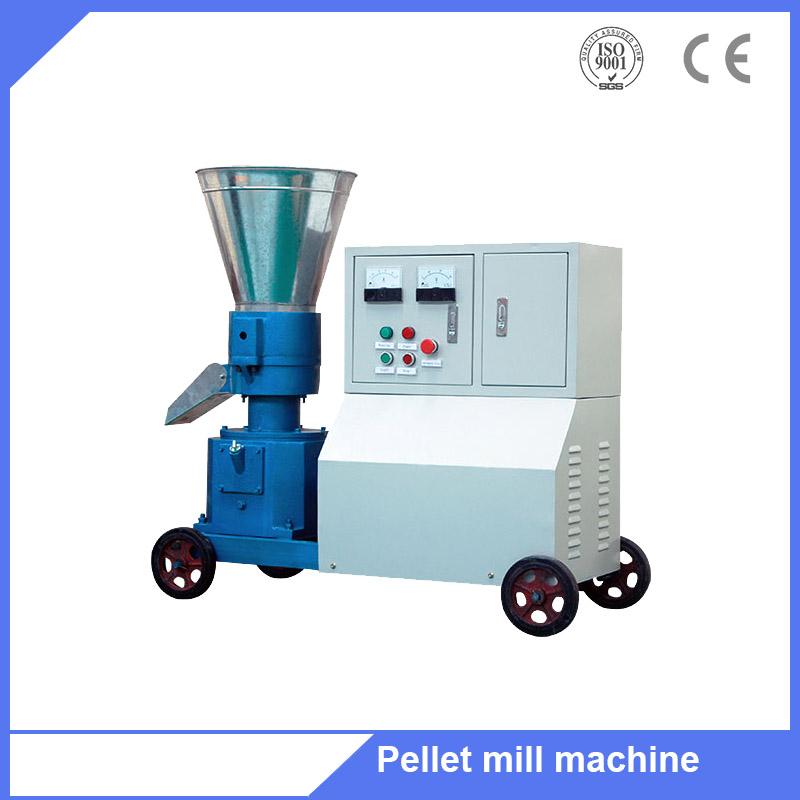 Flat die pto animal feed granulator pellet mill machine for household use