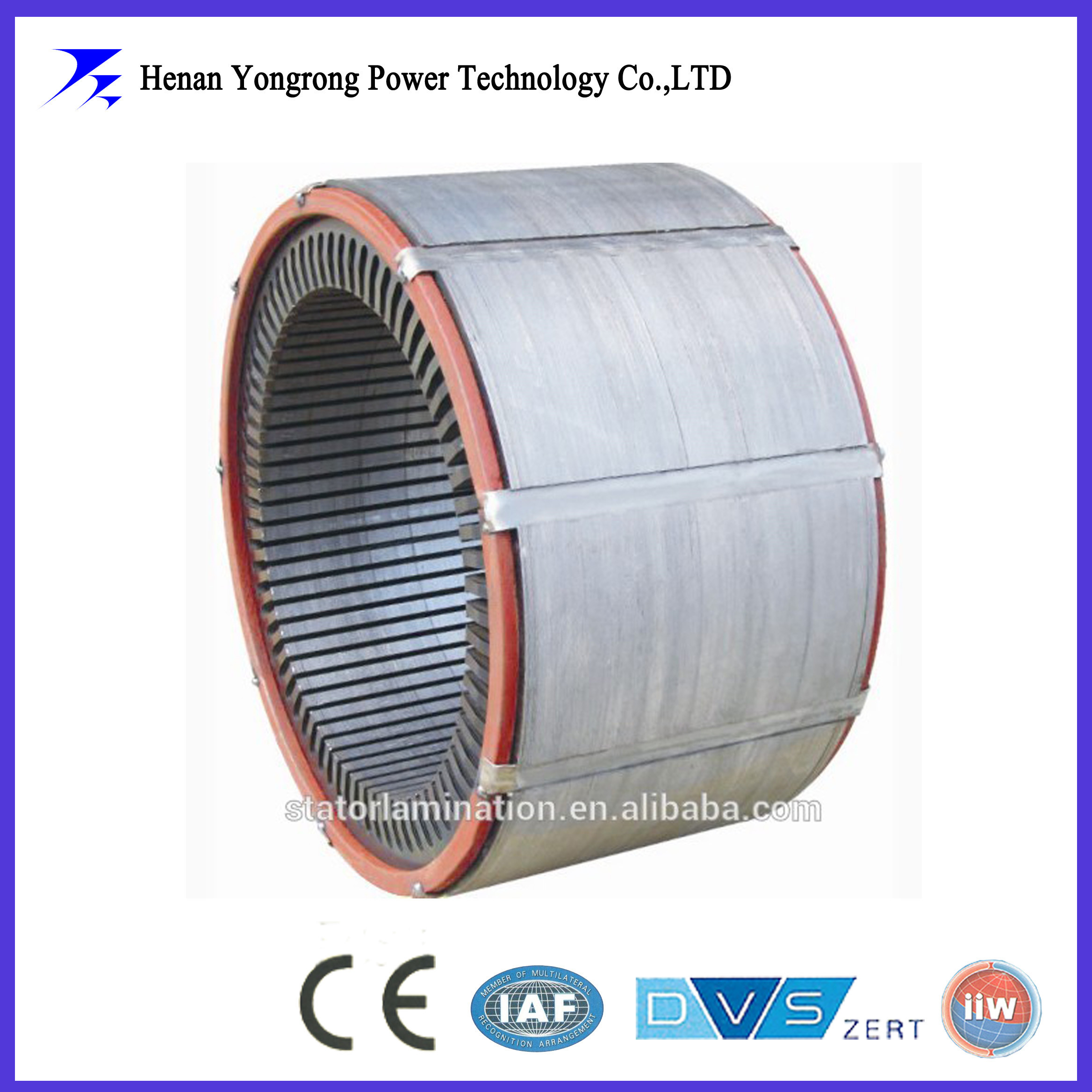 Stator stack assembly core for ac generator