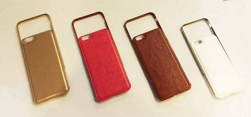 Two in One Metal Frame+Leather Phone Case
