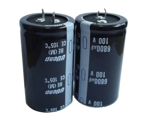 UUcap 100V 6800UF Snap-in Aluminum Electrolytic Capacitor with 3000 hrs lifetime 105C