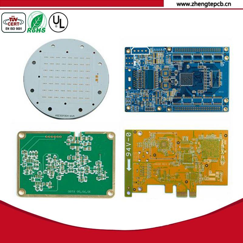 Rogers material immersion gold 4 layers pcb bare board with 1.6mm board thickness