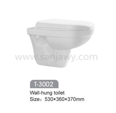 Ceramic Washdown wall hung toilet For Hotel // wall mounted WC commode