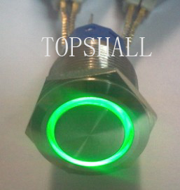 19mm Off-on metal pushbutton switch/off-(on)metal pushbutton switch