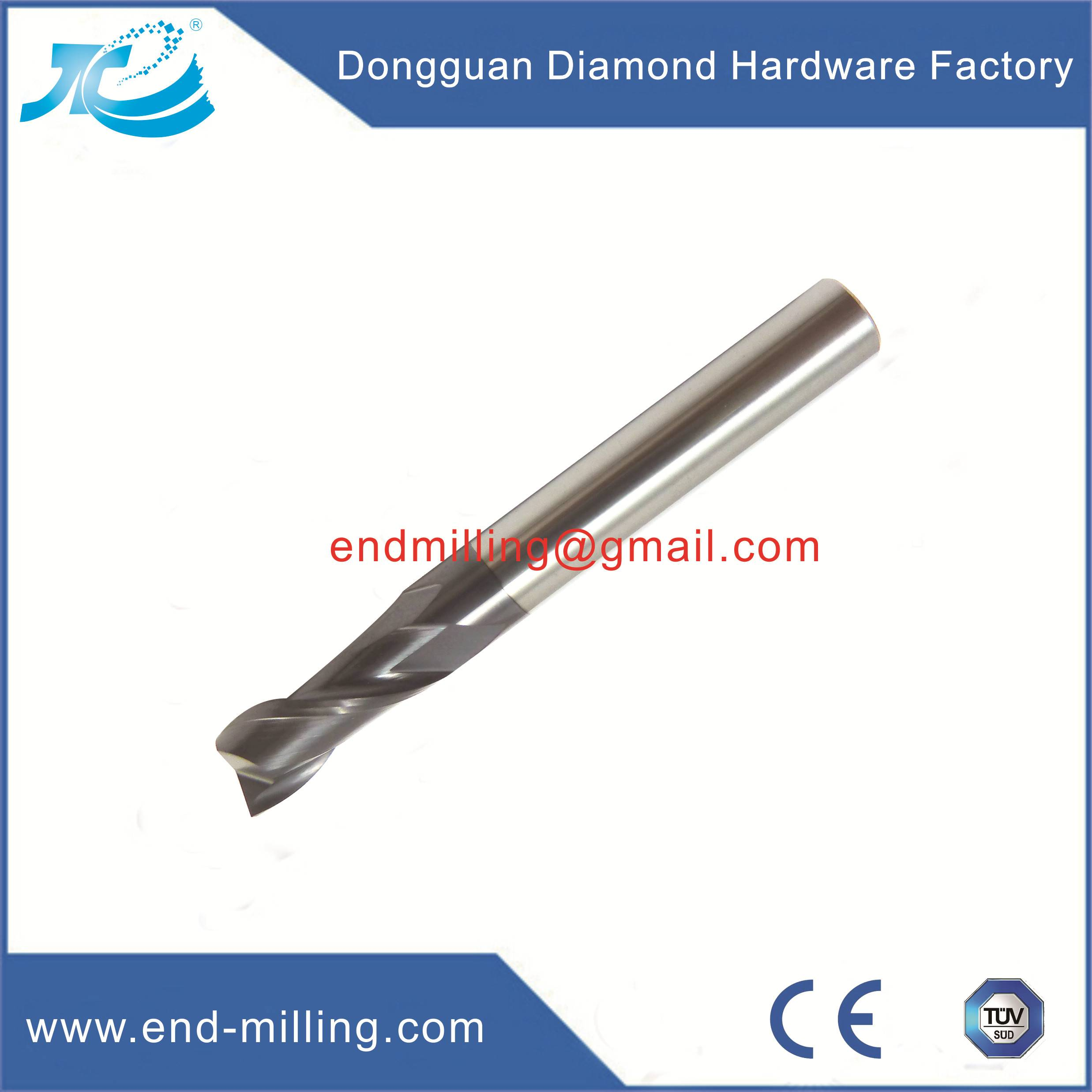 Tungsten Steel Square End Mill With 2/4/6 Flute