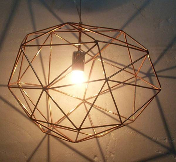 metal cage pendant lamp/hanging diamond stone lamps/metal wire cage pendant lamp