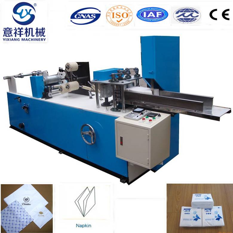 Color printing napkin tissue paper folding converting machine