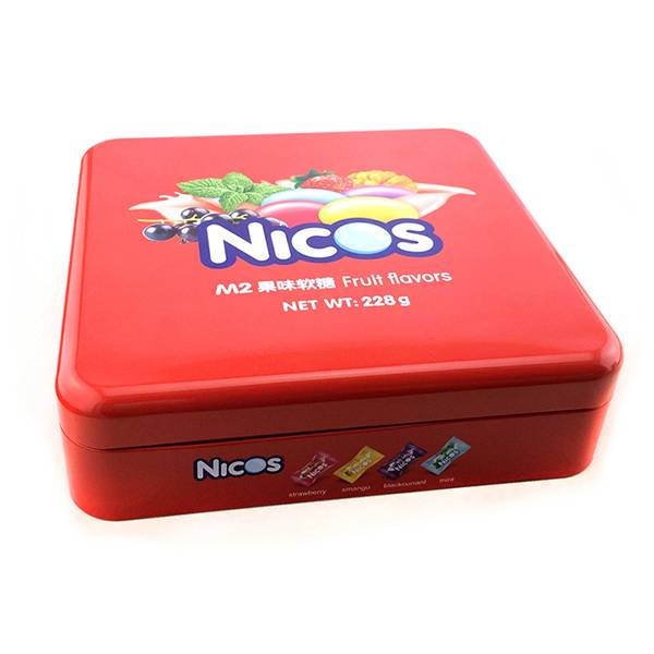 cheap square candy tin box tin can
