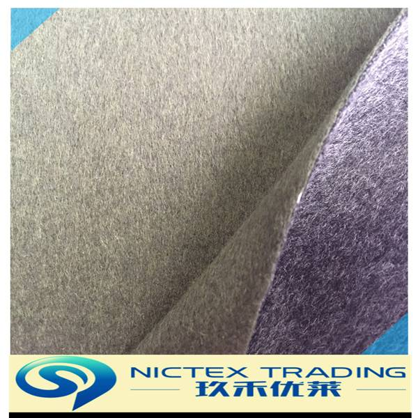 50% wool 50% polyester blend double faced wool fabric from China