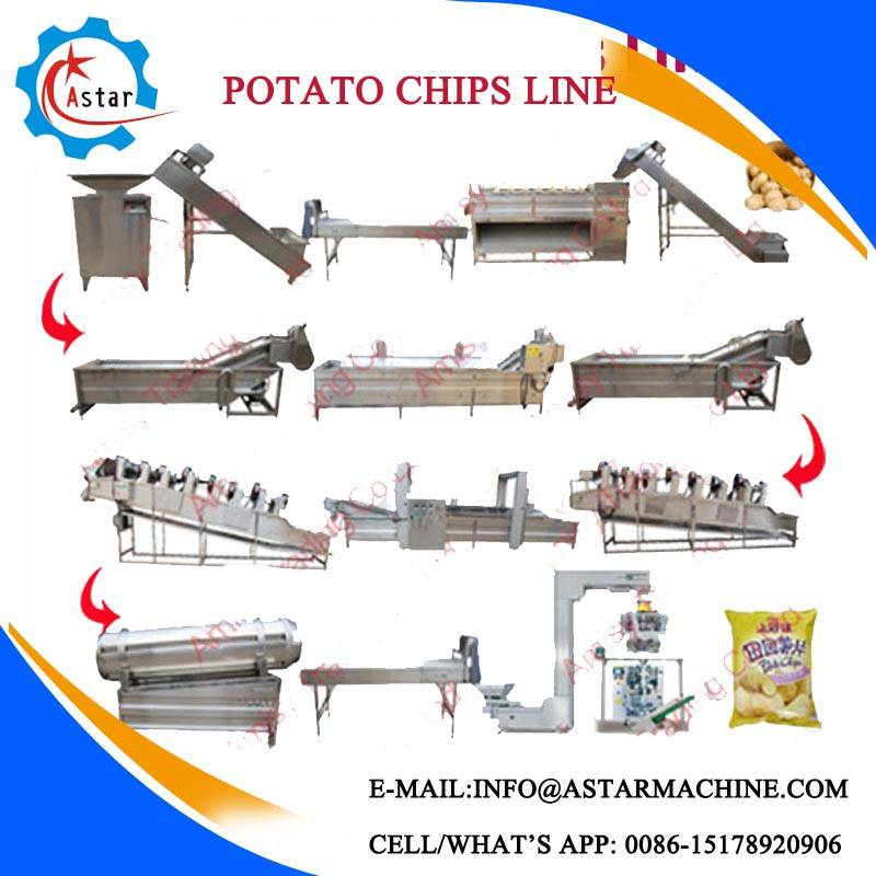100/150/260/400kg/H Full Automatic Potato Chips Making Line For Sale
