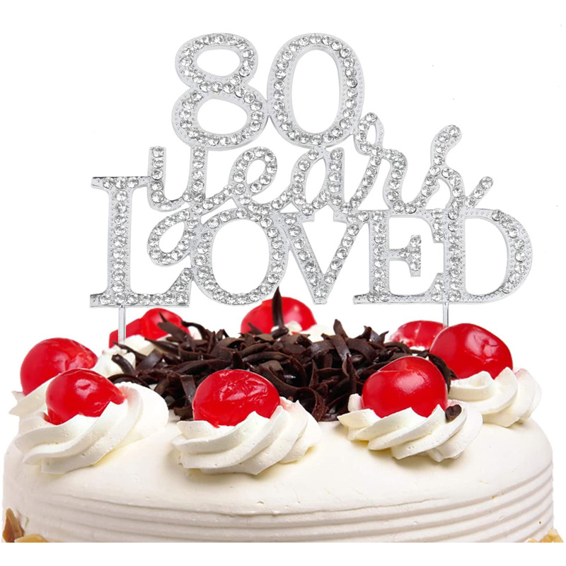Cake decoration custom acrylic cake topper number birthday for birthday party