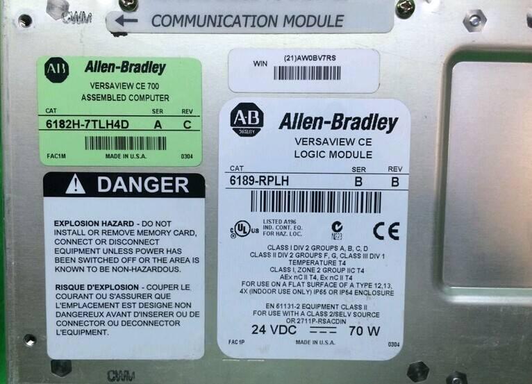 ALLEN BRADLEY VersaView 6189-RPLH 6182H-7TLH4D