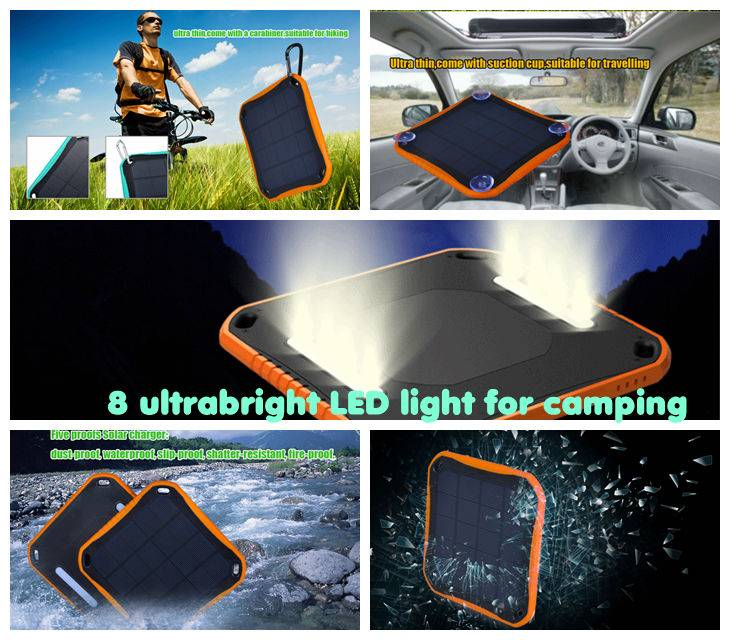 Waterproof Solar Charger 5600 WT-S020