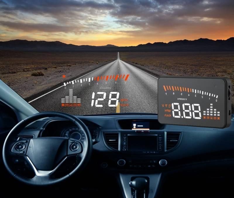 Car Universal OBD2 X5 Hud Head up Display Speed Mph Warning Remind System X5