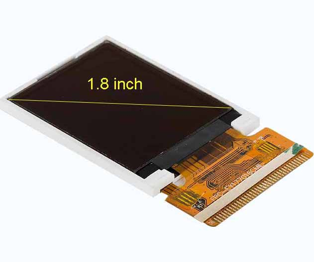 1.8 inch monochrome PMOLED display 128X160 Custom