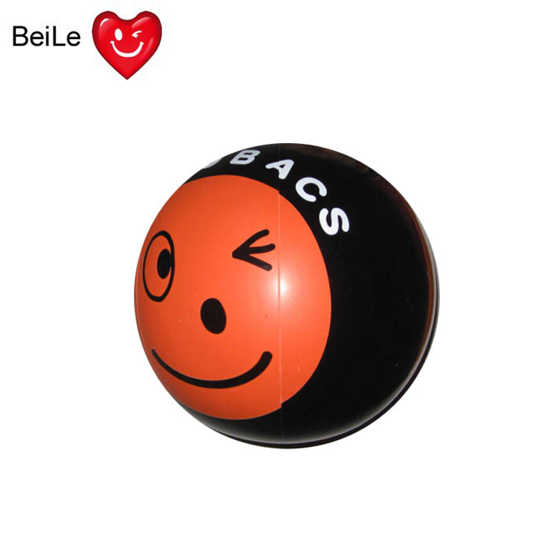 Customized 30cm dia inflatable beach ball for advertising