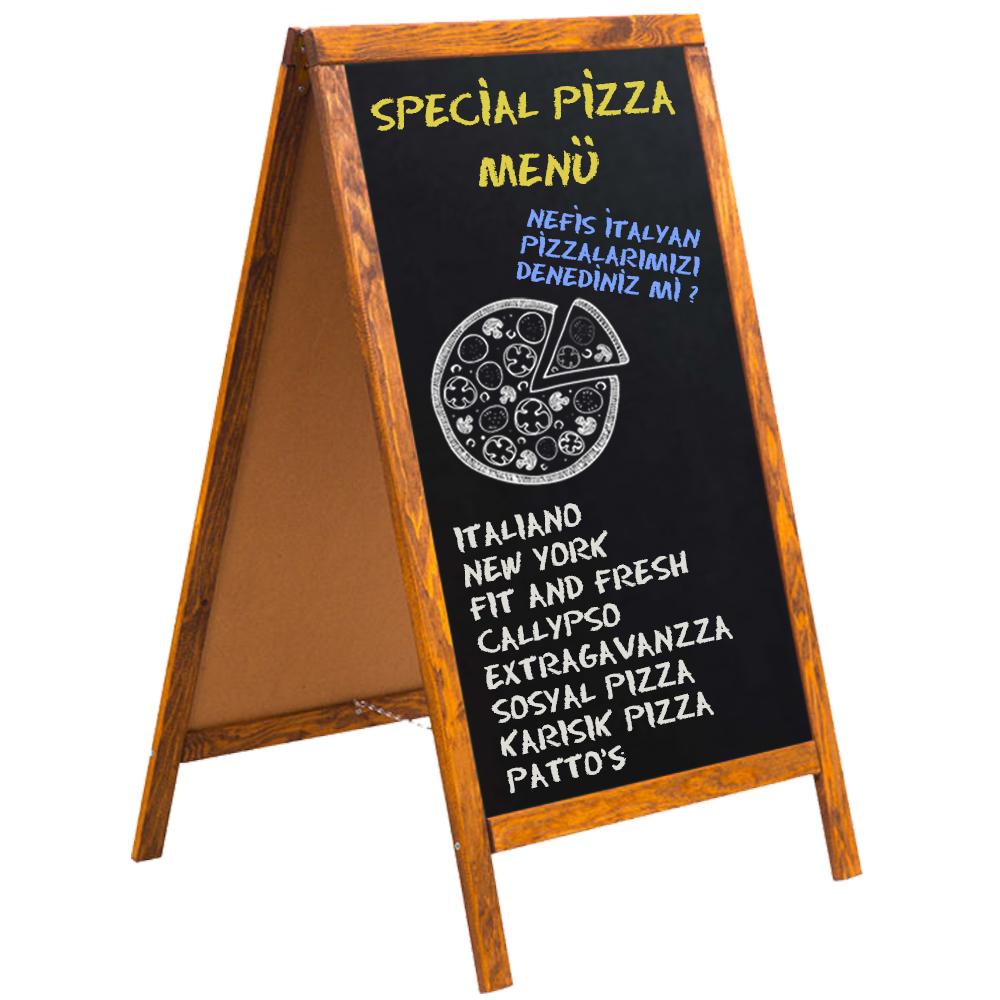 Wooden Frame Decorative Chalkboard Sign Sandwich Blackboard for Cafe Restaurant Menu Welcome Sign