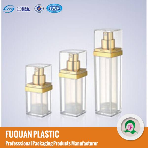 Clear Square Airless mist pump Cosmetic Bottles