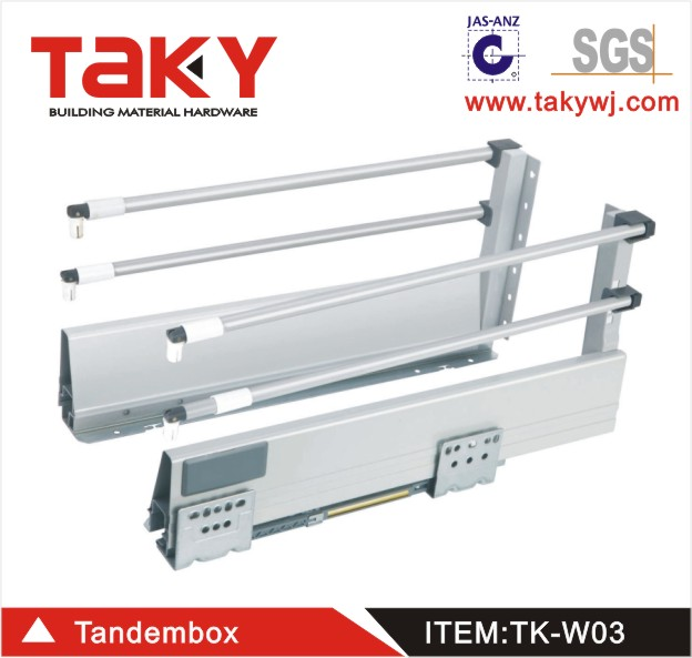 TK-W03 full extension drawer runners&center undermount drawer slides