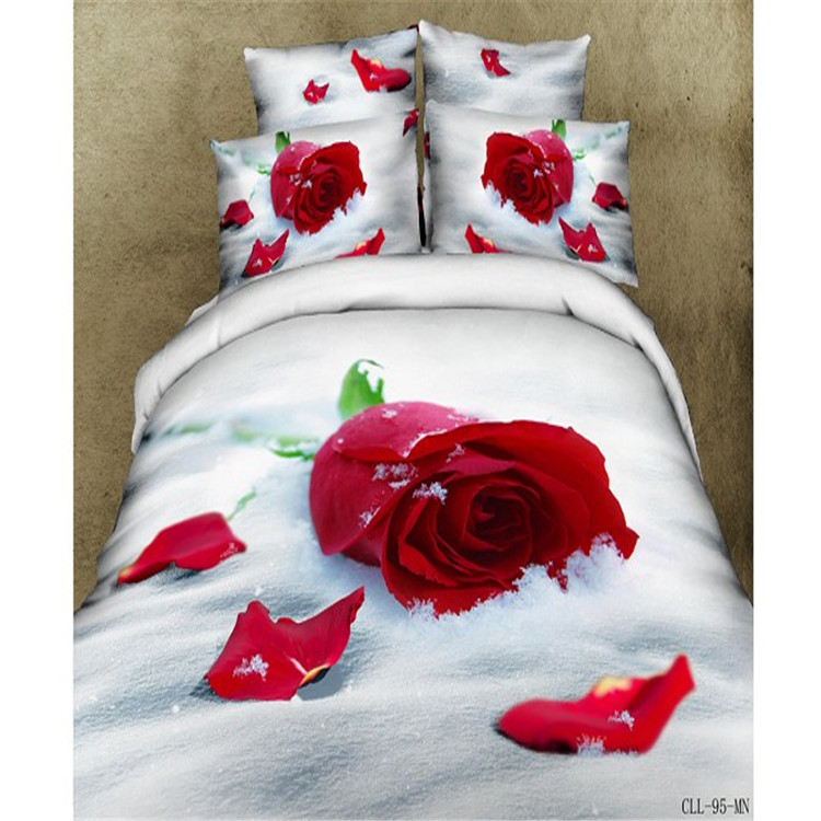 3D printed 100% cotton bedding set, 3D printed polyester bedding sets sheet set duvet cover set