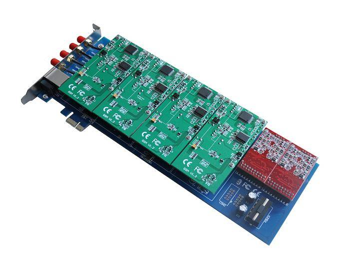 Sinov-gsm400E 4 Ports gsm asterisk Card,Imei Change,Goip 4 for IPPBX system