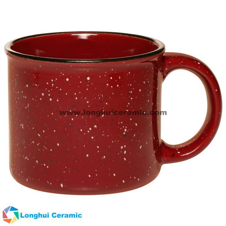 Tin style  retro granite design camper-campfire custom ceramic coffee mug