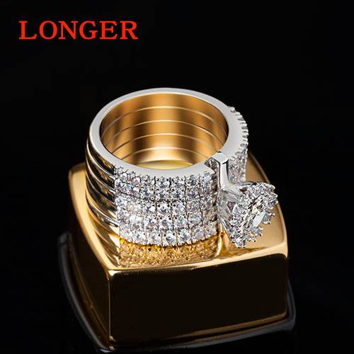 Luxury personality female wedding party diamond ring wedding rings