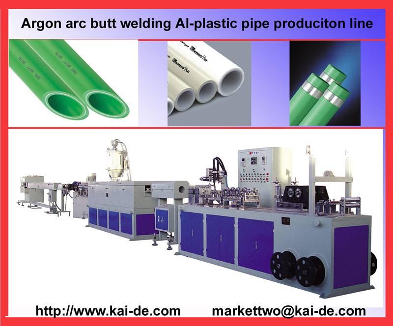 Argon Arc Butt welding al-plastic pipe extrusioni machine
