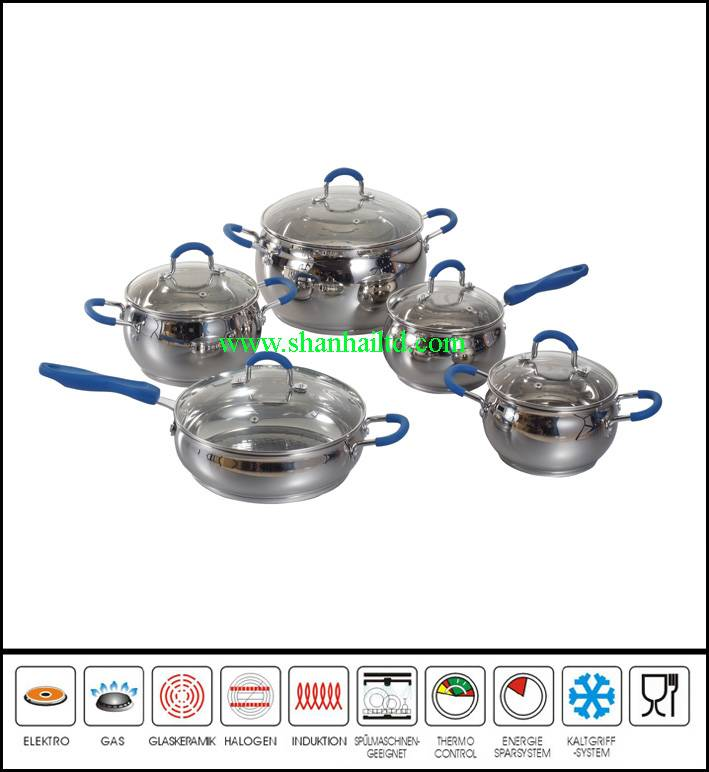 10Pcs High quality russian with bakelite mat and suction knob cookware