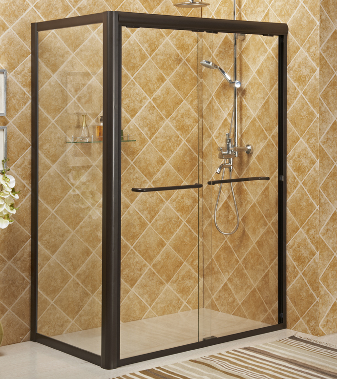 Framed sliding shower enclosure bath with aluminum alloy #6463 frame,S.S.#304 accessories