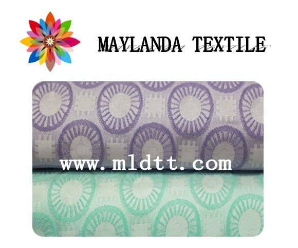 Maylanda Textile 2016 Factory for Women Dress, New Style Flower Pattern Color Yarn Jacquard Fabrics