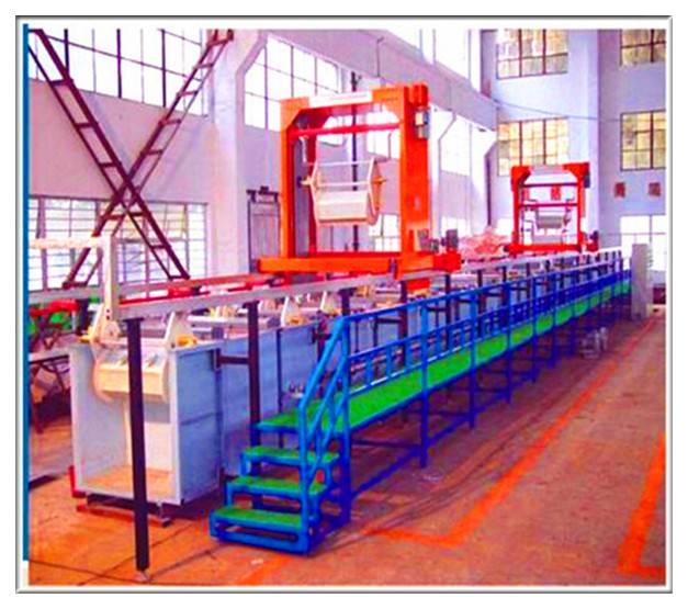 Automatic Gantry Type Barrel Plating Line Nickel Pating Machine Zipper Plating
