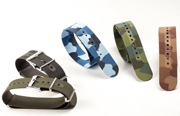 Silicone Nato Watch Strap Army Camo 2usd