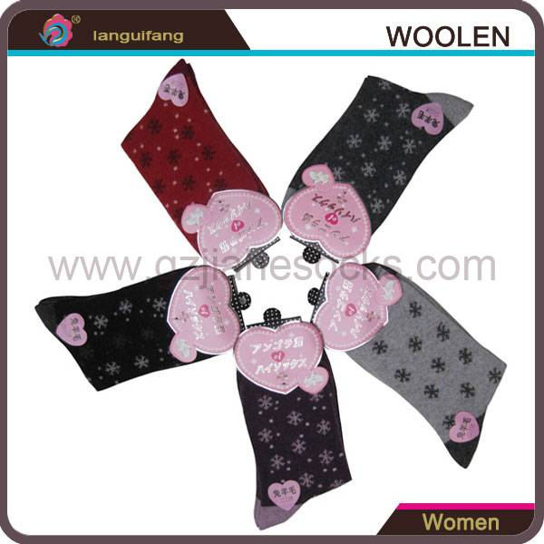 China Wholesale Custom women's wool socks winter terry ladies socks
