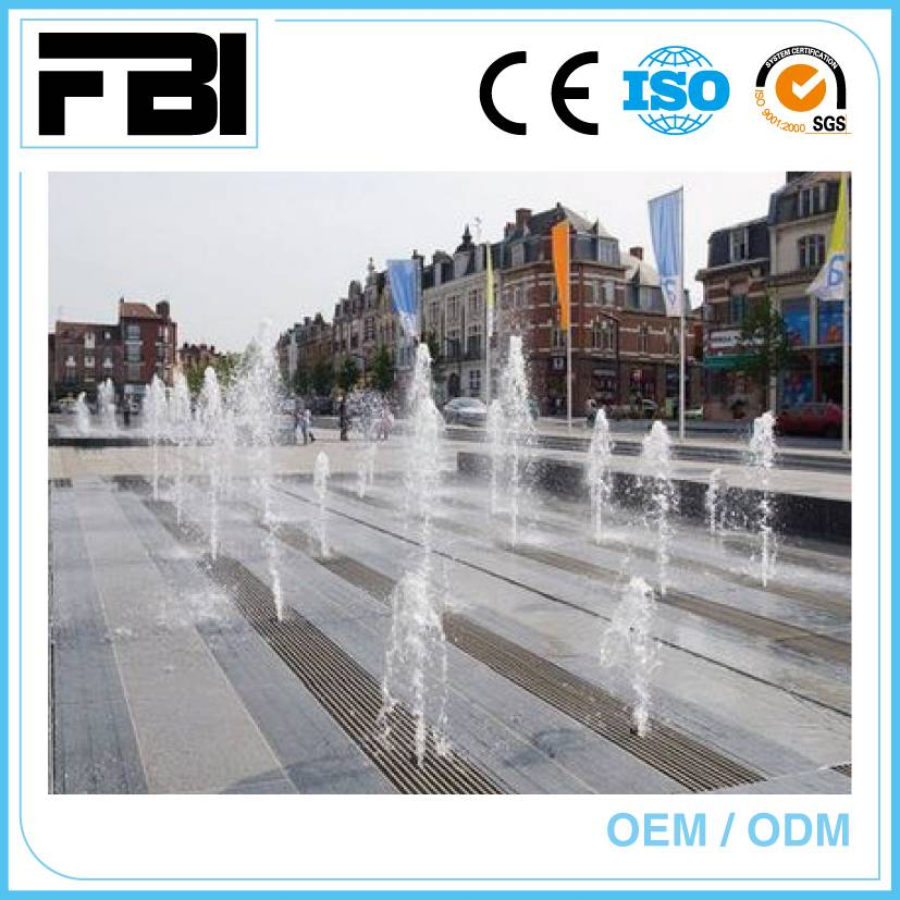 outdoor dry music dancing fountain, park fountain, entertaining fountain