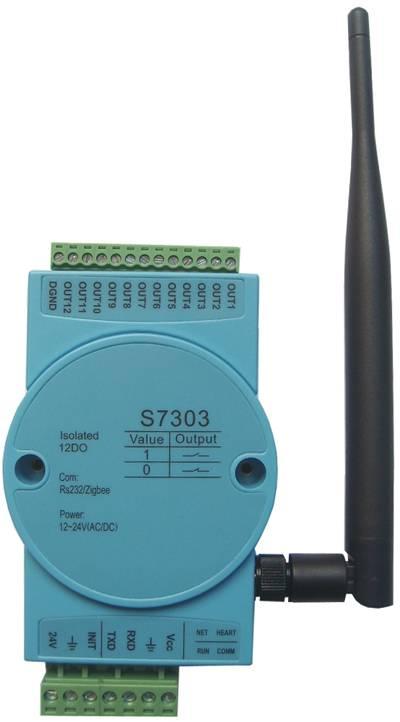 S7303:12-ch isoalted digital output module,zigbee wireless modbus rtu