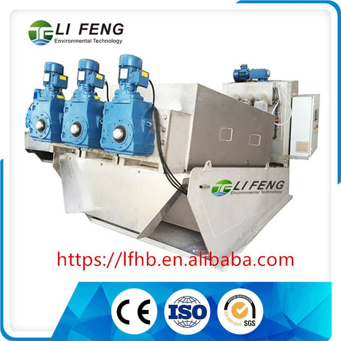 Decrease capital investment used for Mechanical waste water treatment application Sludge Treatment E