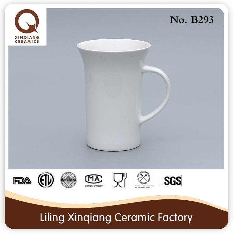 2015 cheap pure white ceramic mug