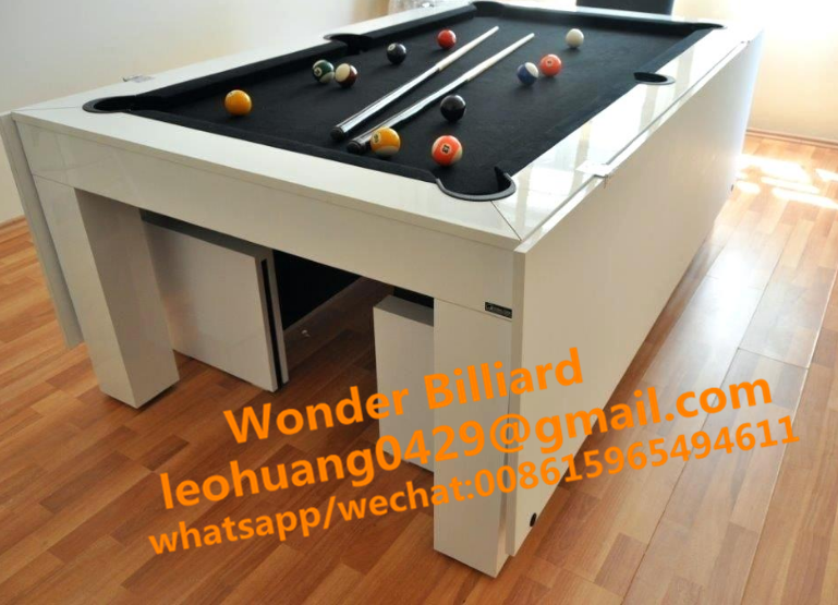 8 Foot Slate Executive Pool Table Dining Table