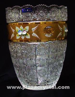 305 Bohemia Crystal Gold PK Vase