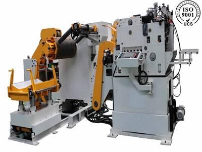 3-IN-1 NC servo feeding straithening  and uncoiling machine