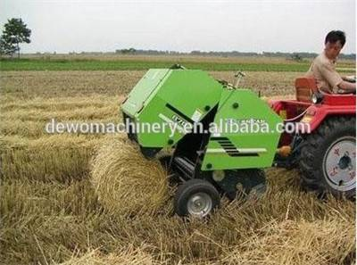 Tractor PTO driven round hay/straw baler machine, CE approval