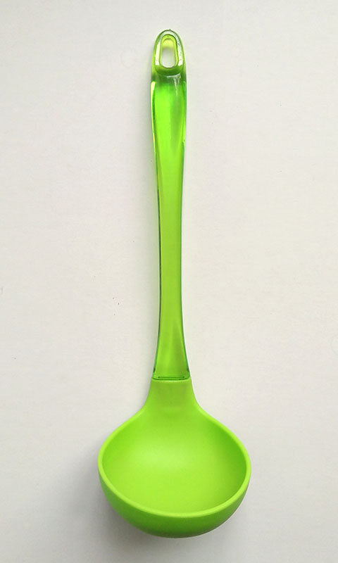 Silicone ladle with PS handle