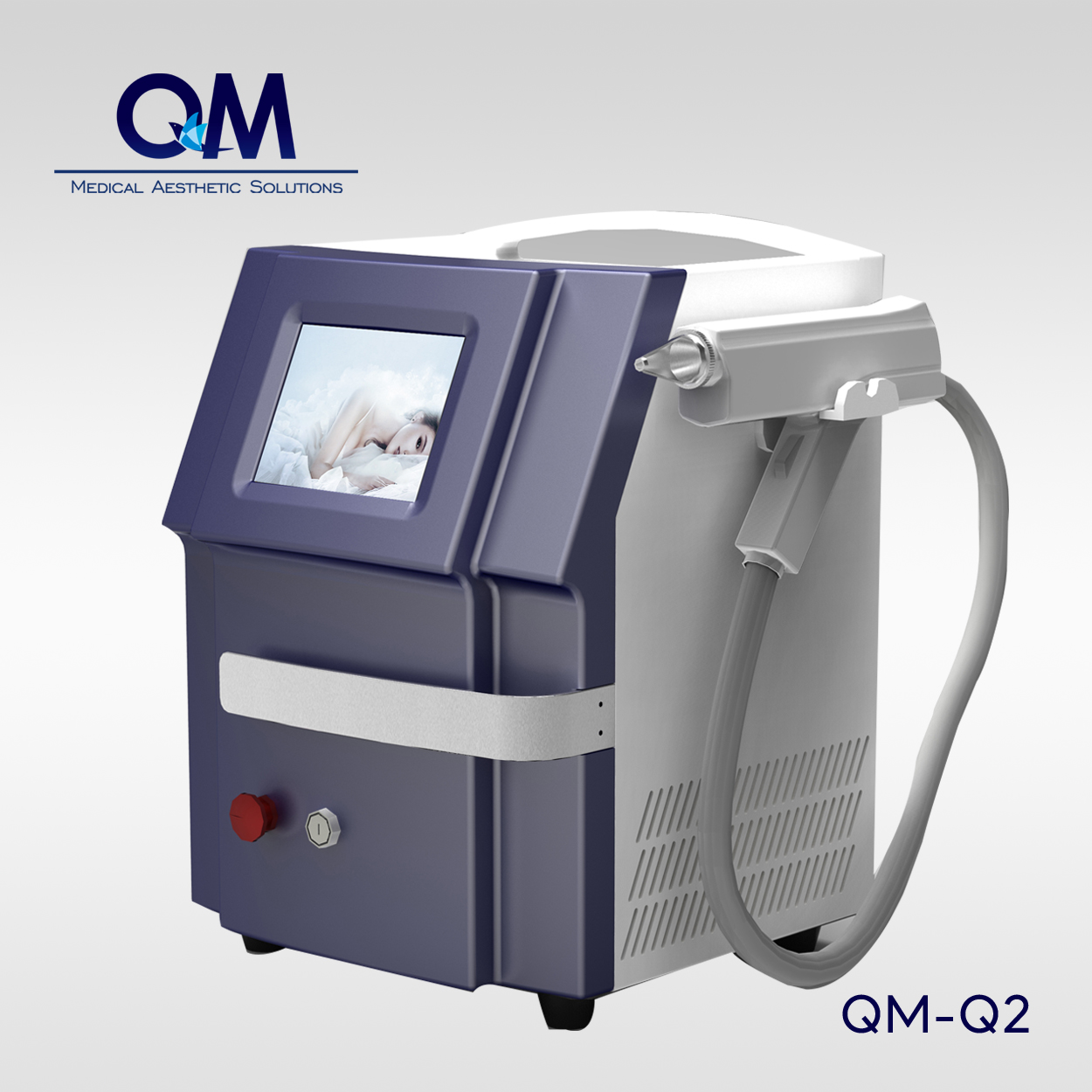 Portable Q-switched Nd:YAG Laser Tattoo Removal Machine (Double Rodes)