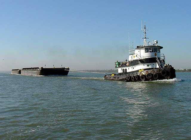 Deck barge for charter