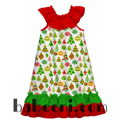 Little girl peasant dress