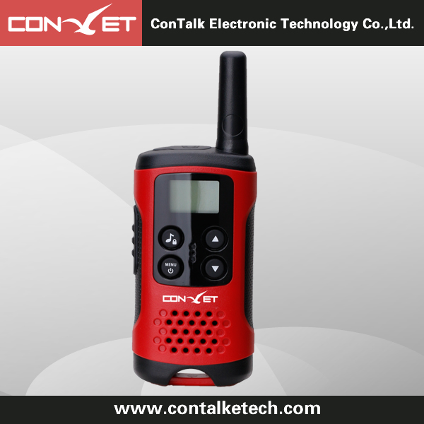 Contalketech Ctet-Q40 - Gmrs/PMR/Frs 2 Way Radio Transceiver 2 Miles (Up to 3 Miles) Range Red